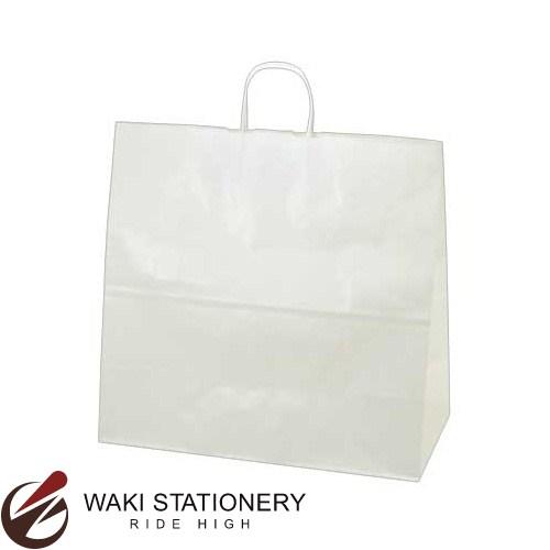 ササガワ [タカ印] 手提げバッグ 業務用 特大角 50枚入 無地 白 50-5600