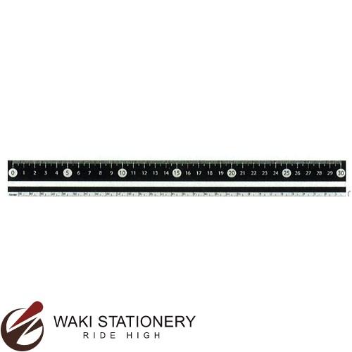 レイメイ藤井 白黒定規 30cm ブラック APJ281B [APJ281] / 100セット