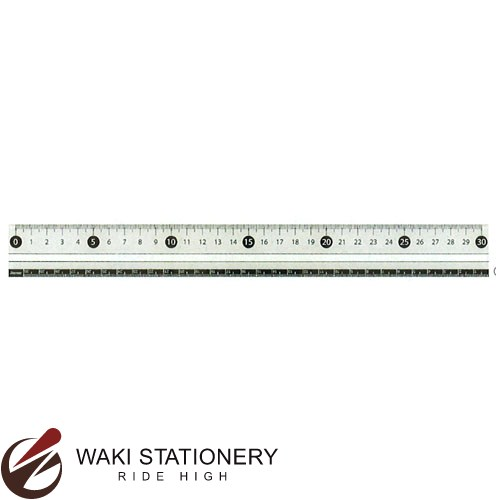 レイメイ藤井 白黒定規 30cm ホワイト APJ281W [APJ281] / 100セット