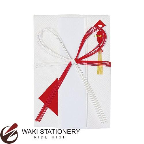 MDS 金封(祝) 紅白檀紙ヒダ折7本 M-135 / 10セット
