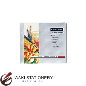 ステッドラー カラト アクェレル 水彩色鉛筆 (インク色:24色セット) 125M24
