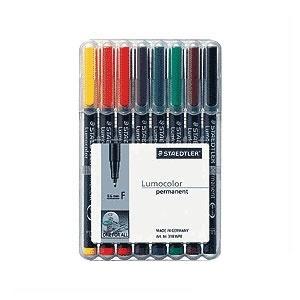 送料無料限定セール中 2点までメール便対応可 ステッドラー ルモカラーペン 極細書きF 2020 新作 インク色:8色セット 318WP8 0.55~0.6mm