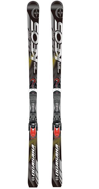 オガサカ KEO'S シリーズスキー板+ビンディング付きモデルKS-CT/BK(ブラック)+チロリア PRD11GW付 2018-19