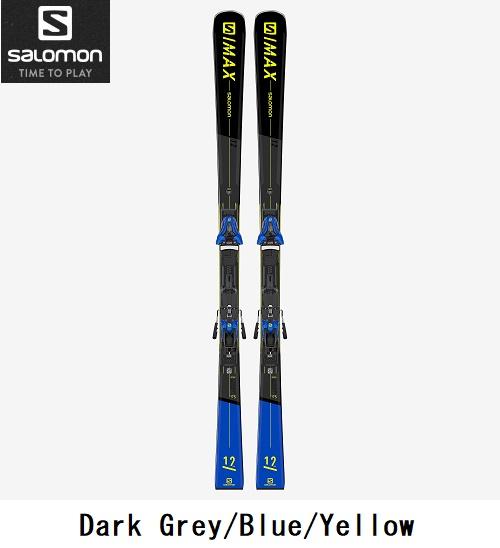 SALOMON サロモン スキースキー板 + ビンディング付S/MAX 12 + Z12 GW165cm【ユニセックス・オンピステ】2020-2021モデル L41170000