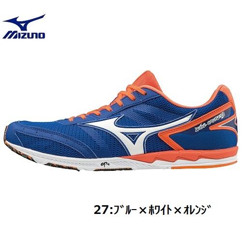【ミズノ】ウエーブクルーズ13(エキスパート)【ユニセックス】MIZUNO (U1GD1860) 27 ブルー×ホワイト×オレンジ