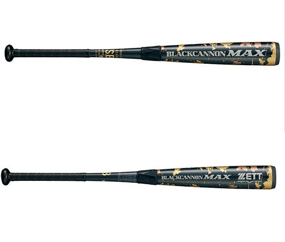 ZETT(ゼット) 少年軟式野球 バット JRナンシキ FRP(カーボン)製バット ブラックキャノンMAX2019モデル BCT75978(1900)