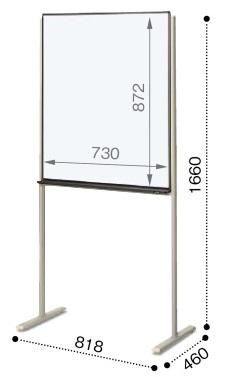 コクヨ ホワイトボード ミーティング用ボード 片面 板面W730×H872 BB-K2325W