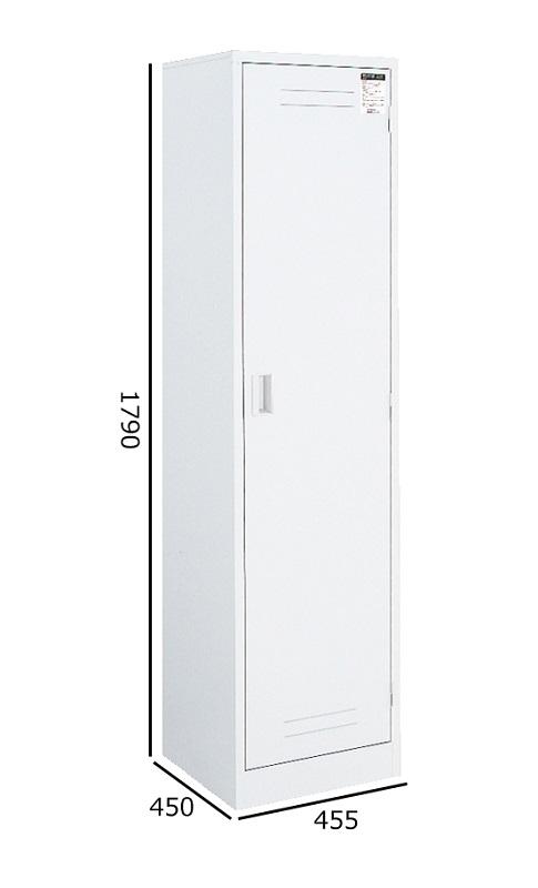 コクヨ クリーンロッカー ホワイトタイプ W455H1790 付属(トレー・雑巾掛け・フック・モップ掛け) CLK-74SAW
