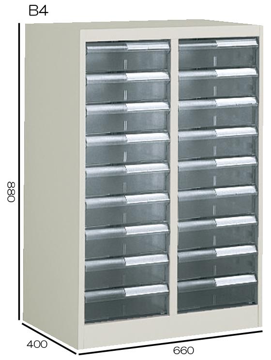 コクヨ 書類整理庫 B4縦型 2列深型9段 W660H880 S-B322F1N