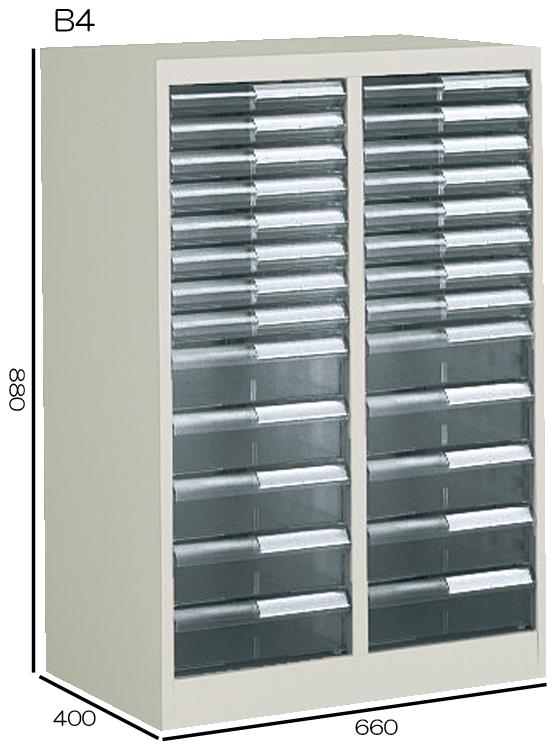 コクヨ 書類整理庫 B4縦型 2列浅型8段・深型5段 W660H880 S-B332F1N