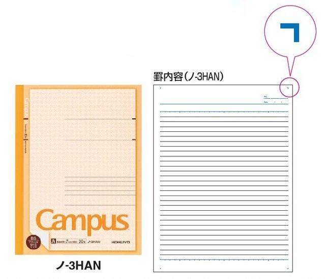コクヨ キャンパスノート プリント貼付用 A罫 30枚 5冊×24セット(120冊セット) ノ-3HAN