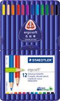 【メ可】ステッドラー エルゴソフト 色鉛筆 12色セット 157 SB12