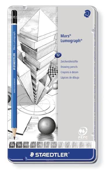 マルス ルモグラフ 製図用高級鉛筆 12本