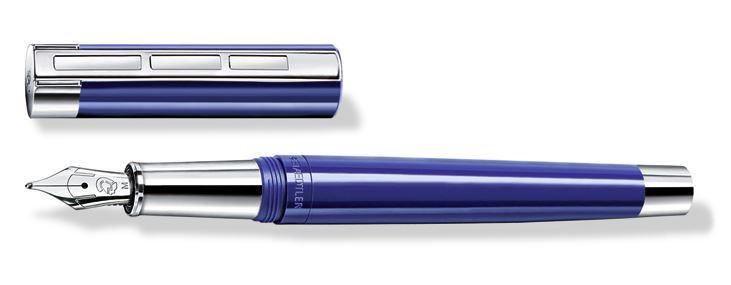【送料無料(沖縄・離島除く)】ステッドラー レシーナ 万年筆 ブルー STAEDTLER PREMIUM Initiumcollection Resina fountain pen 9PB113