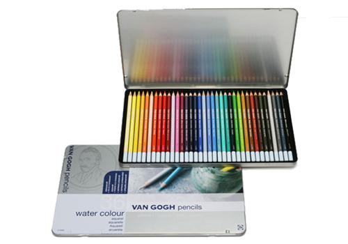 【メ可】サクラクレパス ヴァンゴッホ 水彩色鉛筆 36色セット(メタルケース入り) 157398