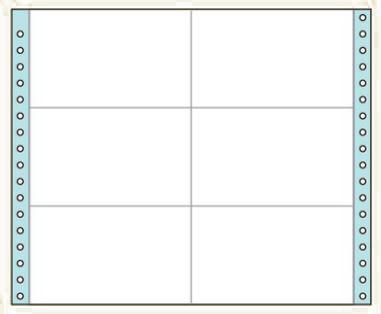 コクヨ タックフォーム ラベル寸法(127.0×76.2mm) 6片 500枚 ECL-429