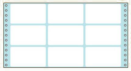 コクヨ タックフォーム ラベル寸法(91.4×50.8mm) 9片 500枚 ECL-439