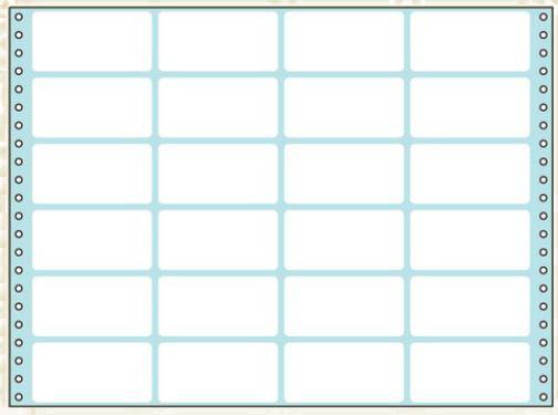 コクヨ タックフォーム ラベル寸法(83.8×42.3mm) 24片 500枚 ECL-739