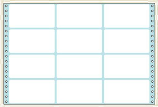 コクヨ タックフォーム ラベル寸法(114.3×59.3mm) 12片 500枚 ECL-759