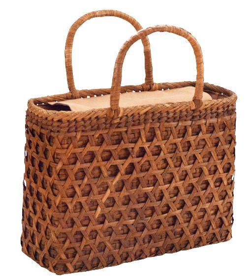 山葡萄 籠バッグ (内布・かぶせ付) 二重編み 浴衣 カゴバッグ かごバック カゴバック やまぶどう