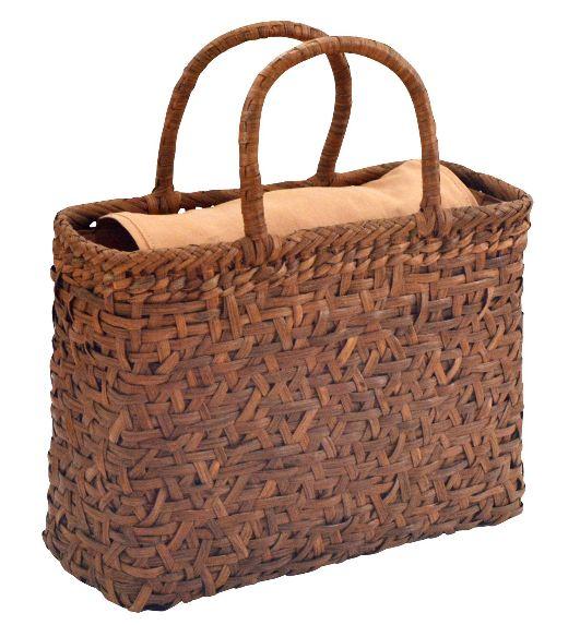 山葡萄 籠バッグ M (内布・かぶせ付) 乱れ編み 浴衣 カゴバッグ かごバック カゴバック やまぶどう