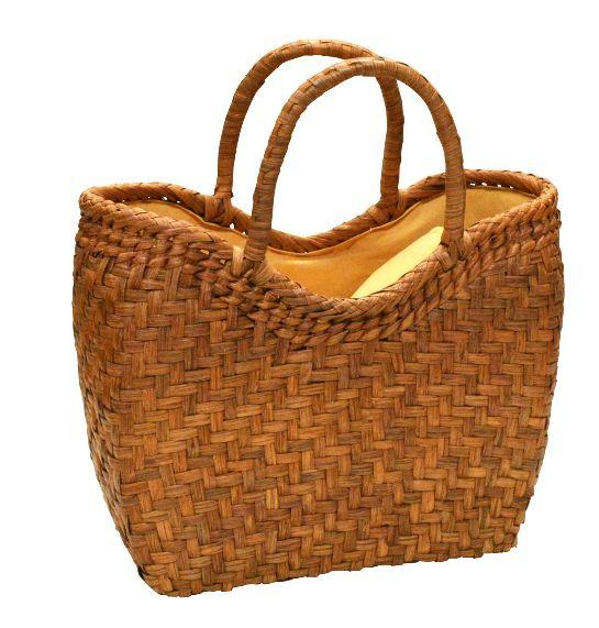 山葡萄 籠バッグ (内布・かぶせ付) 金宝型網代編み 浴衣 カゴバッグ かごバック カゴバック やまぶどう