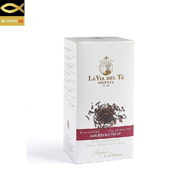 LA VIA DEL TE 買取 ラ ヴィア デル 出色 テ フィレンツェ 2.5g×20袋 紅茶 ダージリン Firenze ITALY コットンティーバッグ