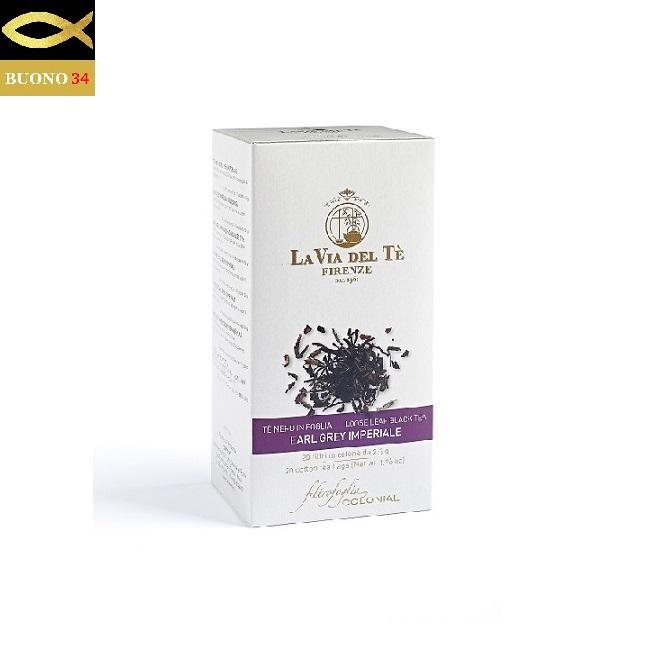 LA 特別セール品 VIA DEL TE ラ ヴィア デル テ 紅茶 アールグレイ Firenze 2.5g×20袋 ITALY フィレンツェ コットンティーバッグ [正規販売店]