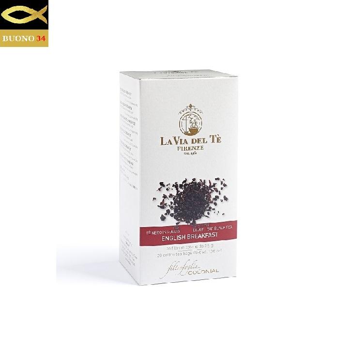 LA VIA DEL TE ラ ヴィア デル テ ITALY セットアップ 紅茶 強い味わい 上質 2.5g×20袋 フィレンツェ Firenze イングリッシュブレックファスト コットンティーバッグ