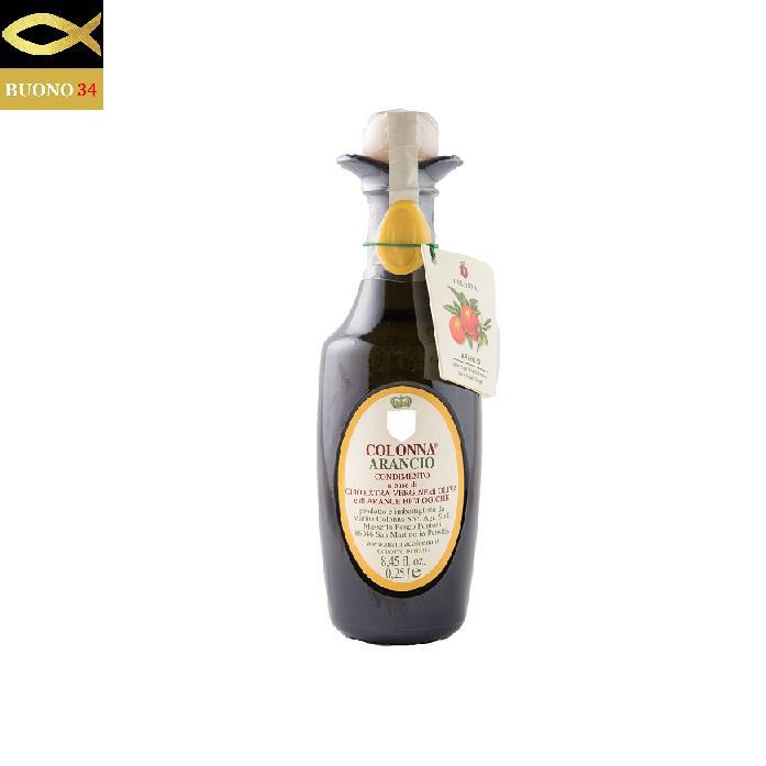 シチリアの太陽の恵みを豊富に受けた有機栽培の果実とオリーブの実を一緒に搾ったオリーブオイル コロンナ オレンジオイル-COLONNA ARANCIO- 天然果実 250ml 激安セール 期間限定今なら送料無料 モリーゼ イタリア