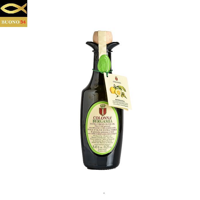 シチリアの太陽の恵みを豊富に受けた有機栽培の果実とオリーブの実を一緒に搾ったオリーブオイル コロンナ 国産品 スーパーSALE セール期間限定 ベルガモットオイル-COLONNA BERGAMIA- 250ml エクストラバージンオリーブオイル モリーゼ イタリア 有機栽培