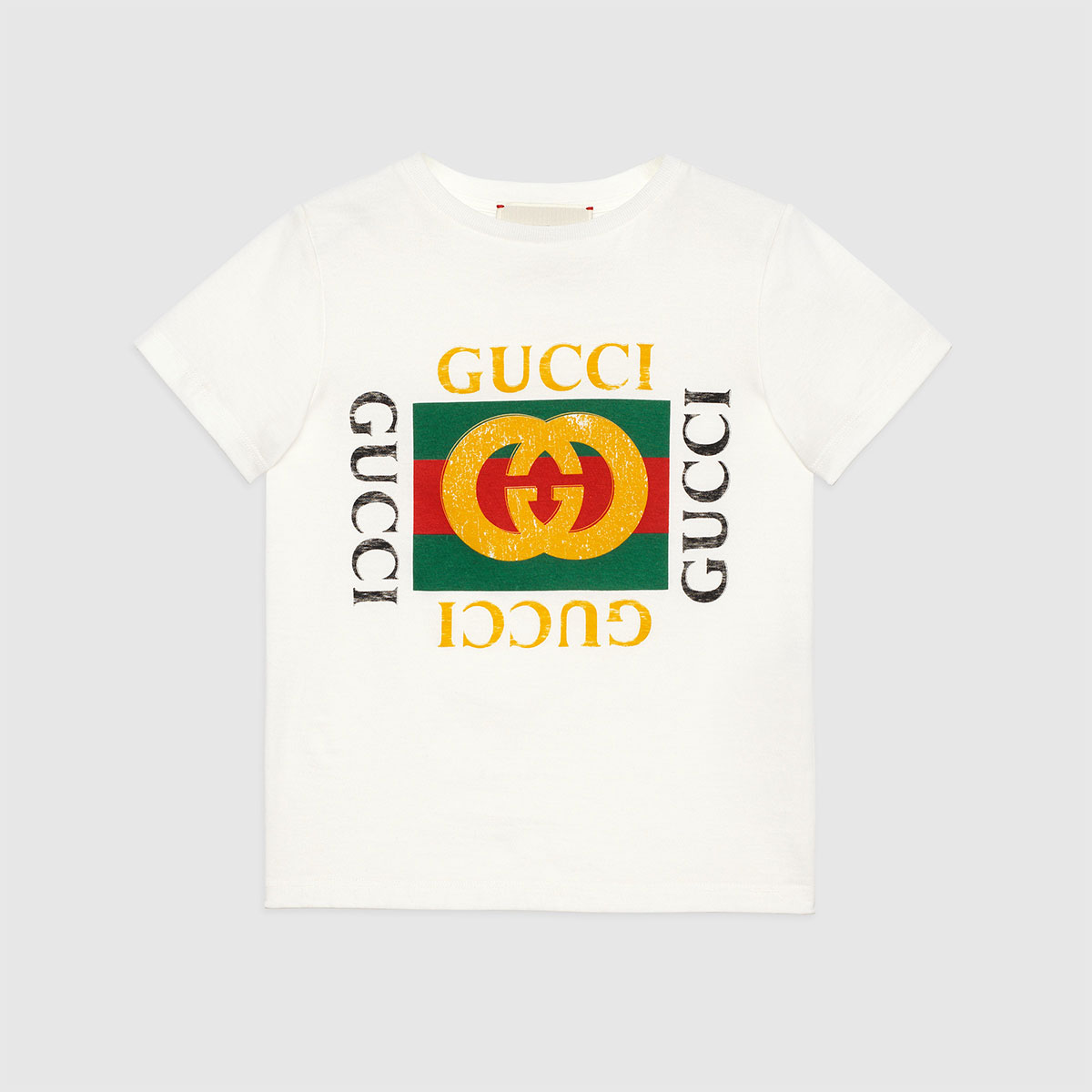 グッチ GUCCI kids [Children] グッチ GUCCI logo printed cotton T-shirt コットン Tシャツ キッズ