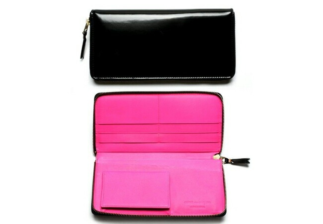 Comme des Garcons Glossy Black Leather Long Wallet コムデギャルソン 財布 SA0110FL