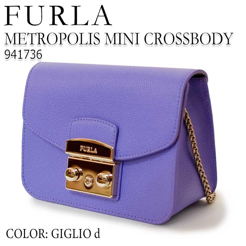 【送料無料】 フルラ FURLA 941736 ハンドバッグ ショルダーバッグ METROPOLIS MINI CROSSBODY GIGLIO D 2018春夏新作