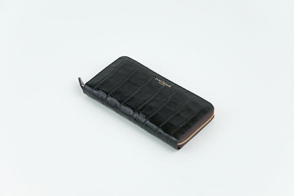ジェイアンドエムデビッドソン J&M Davidson  ELONGATEDZIP WALLET メンズ レディース レザー 本革 ブラック black 長財布 ロング ウォレット zip