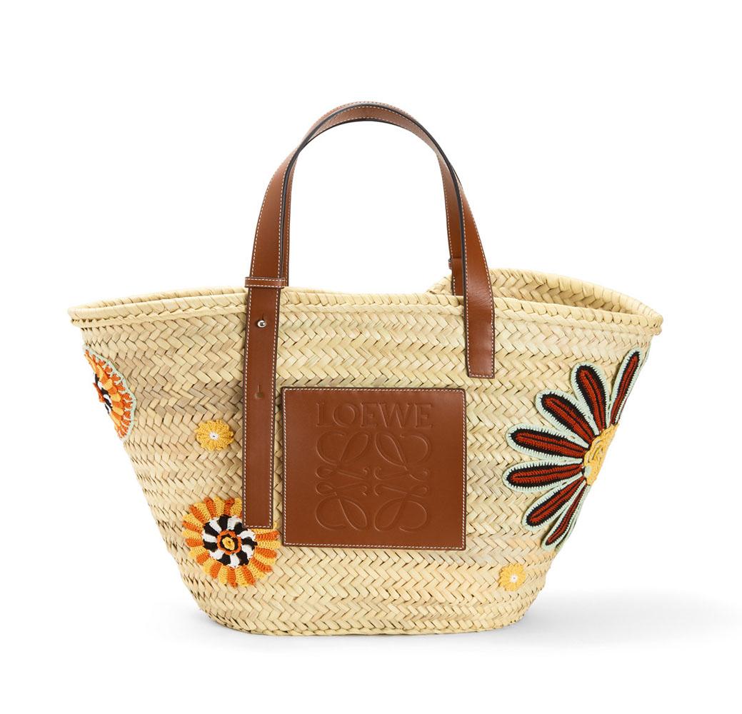 (LOEWE) ロエベ BASKET FLOWERS LARGEBAG カゴバック バック バスケット 鞄