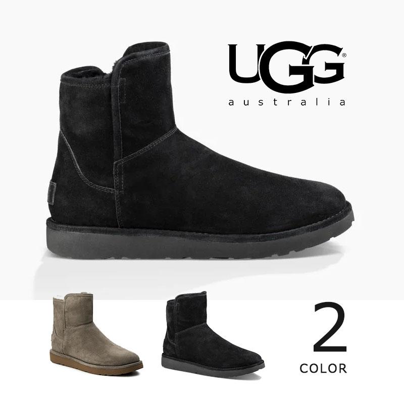 UGG ABREE MINI BOOT アグ アブリーミニ ブーツ 新品 ブラック グレー スエード