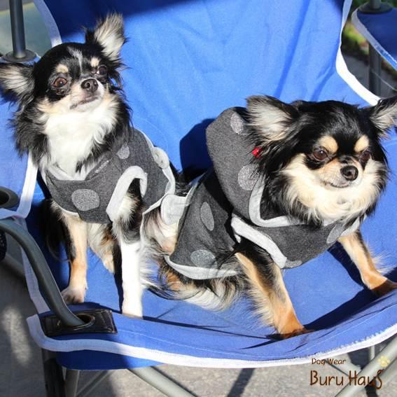 大きな水玉パーカーcolor:ブラック愛犬のお名前プリント無料 営業 SALE開催中