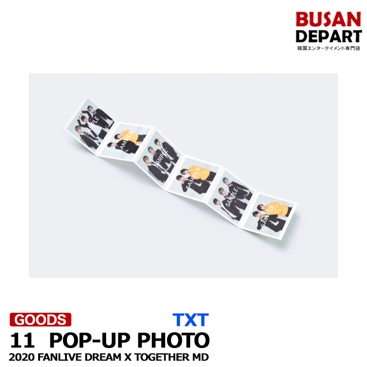 [11. POP-UP PHOTO] TXT 2020 FANLIVE DREAM X TOGETHER MD 1次予約 送料無料