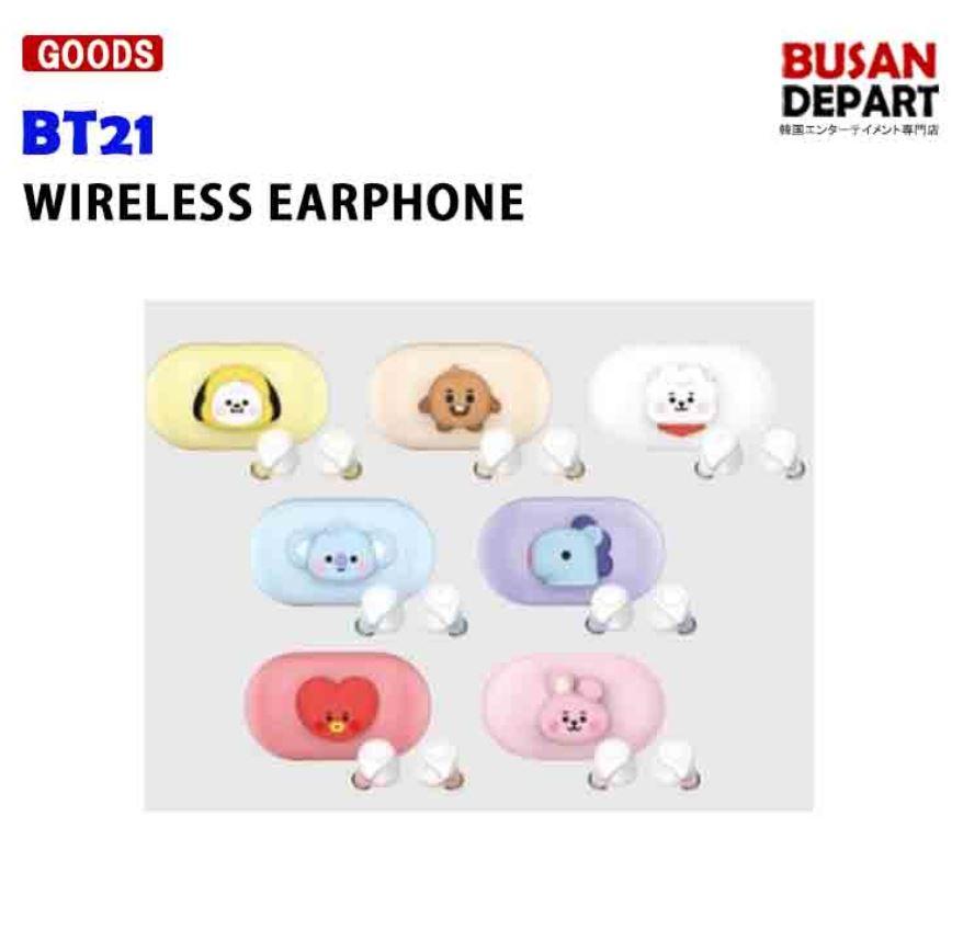 BT21 WIRELESS EARPHONE イヤフォン イアホン 送料無料