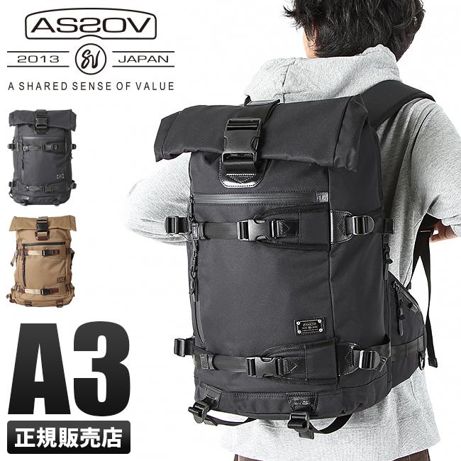 アッソブ AS2OV リュック メンズ 061401 / DOBBY ドビー リュックサック バックパック バッグ ロールトップ 大容量 ブランド ブラック