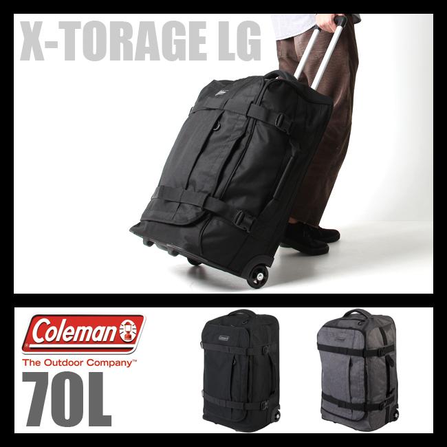 【まもなく終了!カードでP20倍!10/25(木)23:59まで】コールマン ボストンキャリーバッグ エクストレージ 70L 大容量 大型 キャリーバッグ ソフト Coleman X-TORAGE LG