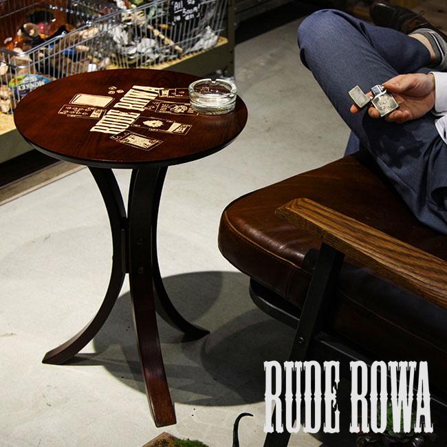 【まもなく終了!姉妹店ならカードでP20~24倍!8/5(日)23:59まで】サイドテーブル アンティーク調 おしゃれ ナイトテーブル タトゥー ルードロワ RUDE ROWA SIDE TABLE TATOO×INTERRIOR
