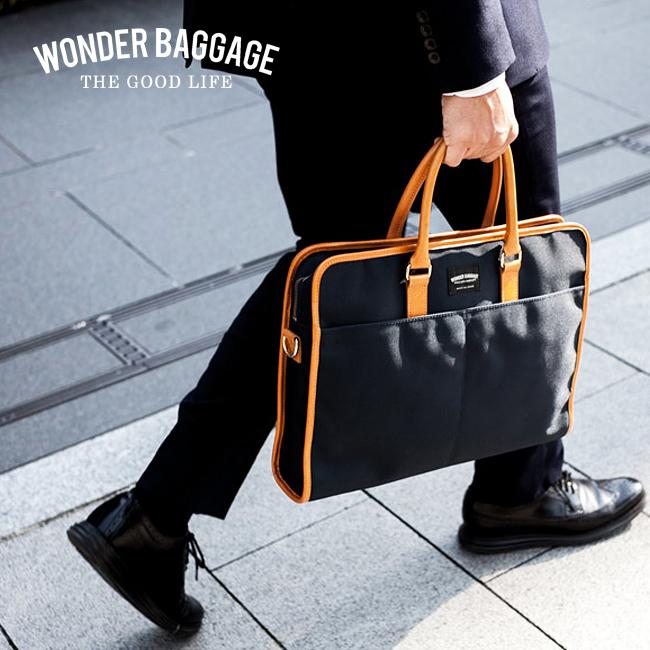 【最大+7倍|9/10限定】ワンダーバゲージ ビジネスバッグ スクエア 本革 日本製 バリスティックナイロン A4 B4 グッドマンズ WONDER BAGGAGE WB-G-015