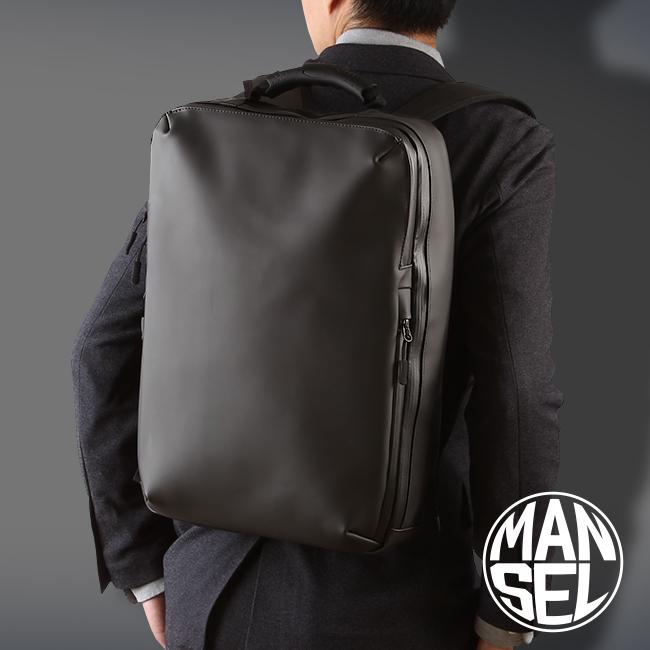 マンセル リュック メンズ 防水 薄型 ビジネスリュック ブランド シンプル おしゃれ MANSEL 0003