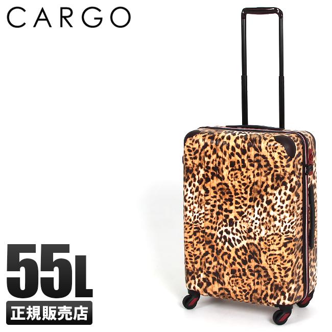 【まもなく終了:P16倍!1/10(木)23:59まで】【在庫限り】スーツケース Mサイズ 55L 軽量 豹柄 ヒョウ柄 日本 ブランド トリオ カーゴ CAT-633 送料無料 キャリーケース キャリーバッグ