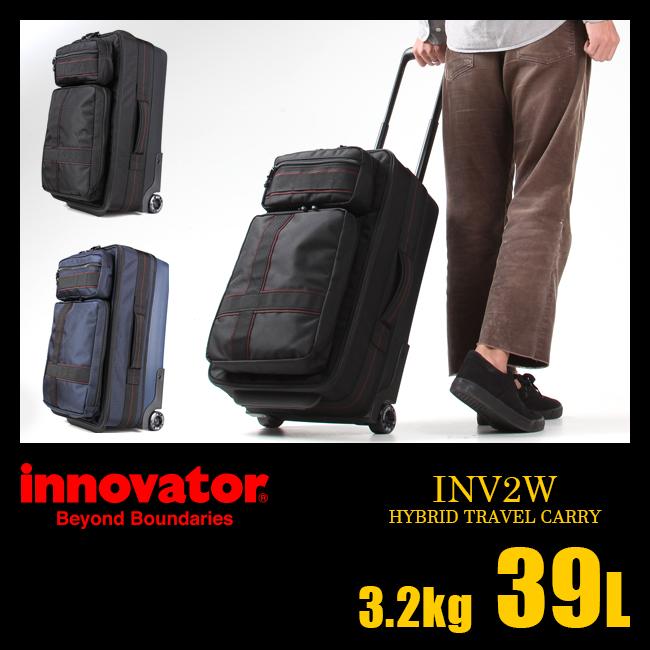 【まもなく終了!カードでP20倍!10/25(木)23:59まで】イノベーター キャリーケース 機内持ち込み ポケット 39L ソフトキャリーバッグ ハードスーツケース innovator INV2W
