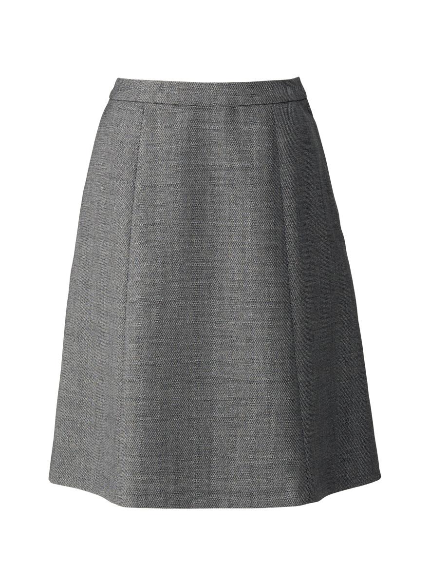 事務服 フレアースカート グレイ(大きいサイズ)【プリエール】【メール便可】