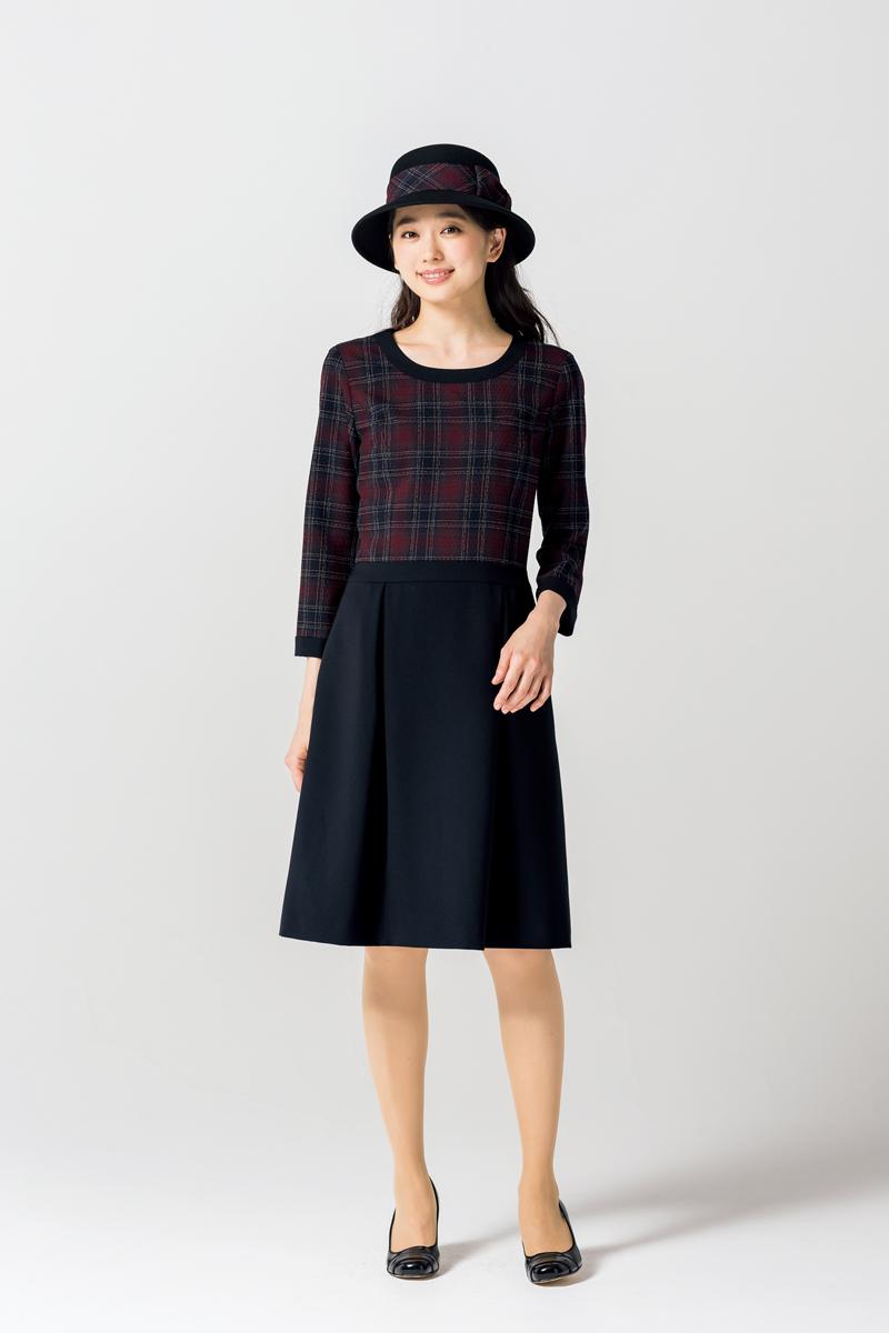 事務服 帽子(リボン付き)ブラック(受注生産になります)