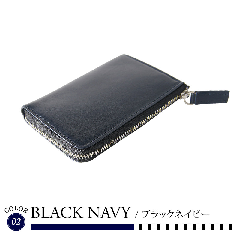 Leather compact card holders and related words multivoretto black Navy Brown wallet purse card case mens zip L-L type fasteners gift presents business cowhide leather leather leather leather leather birthday father men boyfriend grandfather
